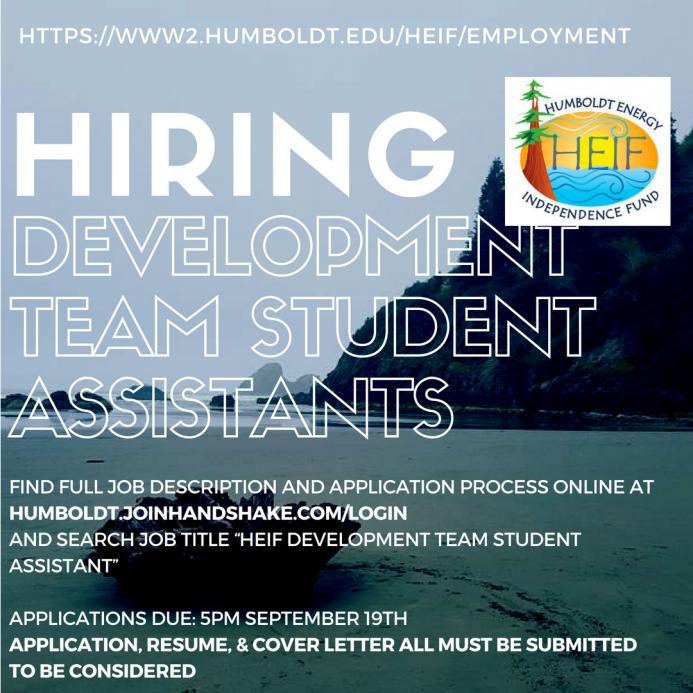 HEIF is hiring