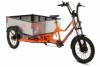 Photo shows three wheeler Radburro E-Bike with storage space that was chosen for implementation.