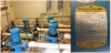 Outdated Baldor pumps and motors with product information label.